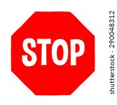 stop sign  cartoon style