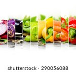 photo of colorful vegetable mix ... | Shutterstock . vector #290056088