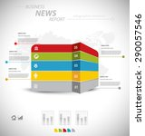 business infographic template... | Shutterstock .eps vector #290057546