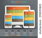 responsive info graphic design  ... | Shutterstock .eps vector #290059805