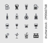alcohol drinks icon collection | Shutterstock .eps vector #290060768