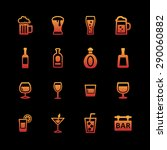 drink icon collection   Shutterstock .eps vector #290060882