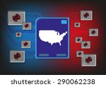 electronic symbols connected to ... | Shutterstock .eps vector #290062238
