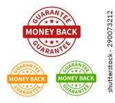 money back guarantee seal or... | Shutterstock .eps vector #290073212