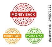 money back guarantee seal or... | Shutterstock .eps vector #290073212