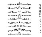 vintage dividers  and ornaments ... | Shutterstock .eps vector #290075462
