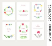 vector set backgrounds with... | Shutterstock .eps vector #290075972
