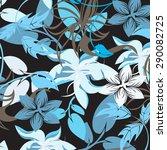 vector seamples flower pattern... | Shutterstock .eps vector #290082725