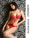 sexy young brunette in underwear | Shutterstock . vector #29008894
