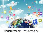 earth against blue sky | Shutterstock . vector #290096522