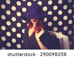 Portrait Of A Redhead Girl With ...