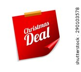 christmas deal red sticky notes ... | Shutterstock .eps vector #290103578