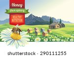 mountain landscape with a bee... | Shutterstock .eps vector #290111255