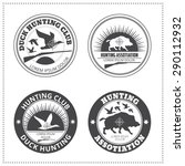 set of vector hunting club... | Shutterstock .eps vector #290112932