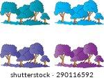 vector tree   Shutterstock .eps vector #290116592