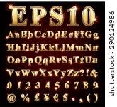 vector set of metallic letters... | Shutterstock .eps vector #290124986