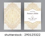 vintage ornate cards in... | Shutterstock .eps vector #290125322