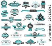 a big set of high detail design ... | Shutterstock .eps vector #290133062