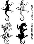 chimera and salamander tattoo | Shutterstock .eps vector #290133935