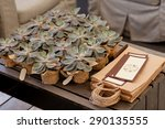 Wedding. Rustic . Favors On A...
