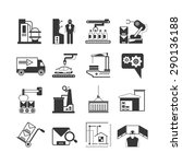 engineering icons set ... | Shutterstock .eps vector #290136188