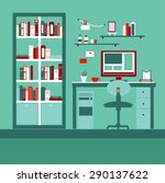 modern design interior.cabinet... | Shutterstock .eps vector #290137622