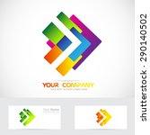 vector company logo icon... | Shutterstock .eps vector #290140502