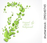 eco card with green leaves.... | Shutterstock .eps vector #290140745