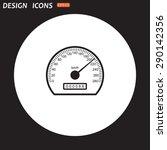 speedometer. icon. vector design | Shutterstock .eps vector #290142356