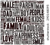 family info text graphics and... | Shutterstock .eps vector #290148095