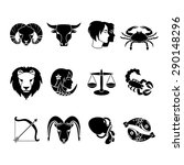 stylized icons set of twelve... | Shutterstock .eps vector #290148296