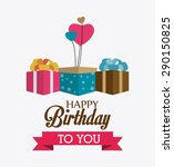 happy birthday colorful card...   Shutterstock .eps vector #290150825