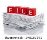 3d image. paper sheets.... | Shutterstock . vector #290151992