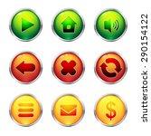 glass buttons set