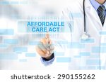 doctor hand touching affordable ... | Shutterstock . vector #290155262