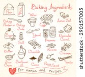 set drawings of baking... | Shutterstock .eps vector #290157005