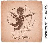 sagittarius zodiac sign...   Shutterstock .eps vector #290161592
