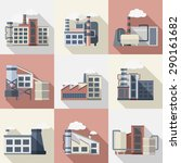 industrial buildings and power... | Shutterstock .eps vector #290161682