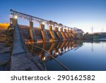 Hydro Power Station Dam Sunrise