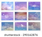 brochures for business reports  ... | Shutterstock .eps vector #290162876