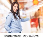 woman doubting isolated | Shutterstock . vector #290163095