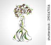 vector illustration of girl in... | Shutterstock .eps vector #290167016