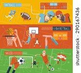 american football basketball... | Shutterstock .eps vector #290167436