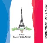 happy bastille day  14 july.... | Shutterstock .eps vector #290176652