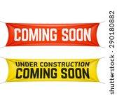 coming soon banner vector...