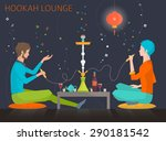 young people are sitting around ... | Shutterstock .eps vector #290181542