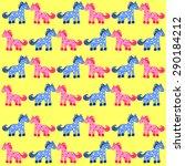 Horses Seamless Pattern. Vecto...