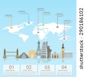 world travel info graphics... | Shutterstock .eps vector #290186102