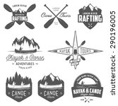 set of kayak and canoe emblems  ... | Shutterstock . vector #290196005