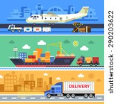 shipping transport  delivery.... | Shutterstock .eps vector #290203622